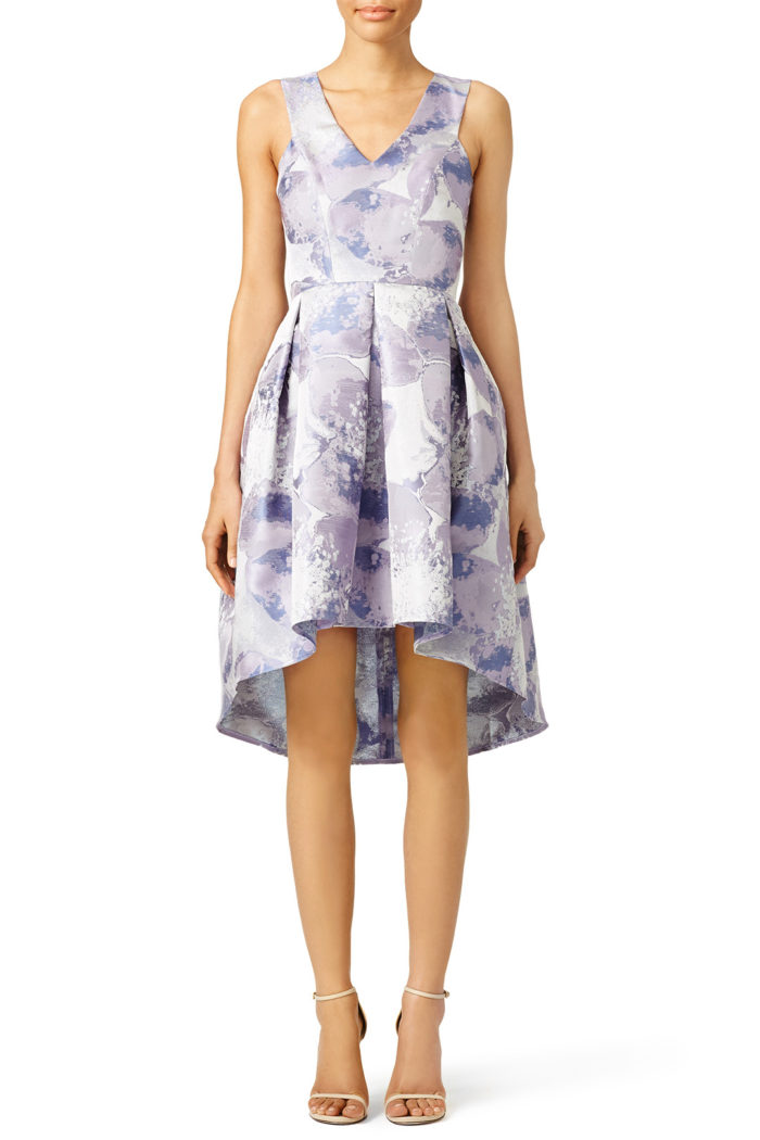 Cute lavender hi low dress