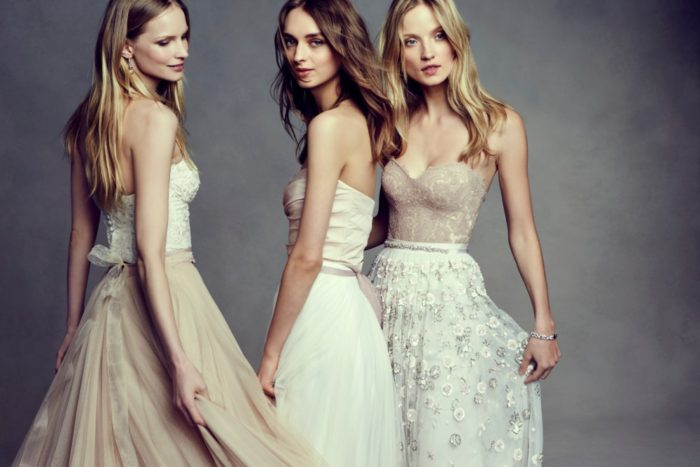 Corsets and skirts for wedding dresses