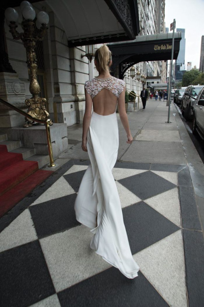 Open back wedding dress by Inbal Dror