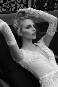 Long sleeve wedding gown by Inbal Dror