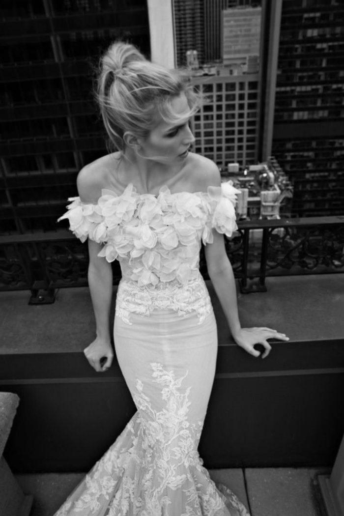 Off the shoulder wedding dress by Inbal Dror