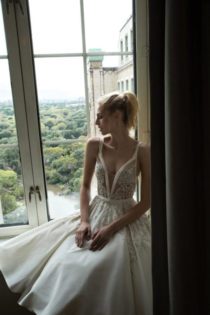 Sheer wedding dress bodice | Inbal Dror