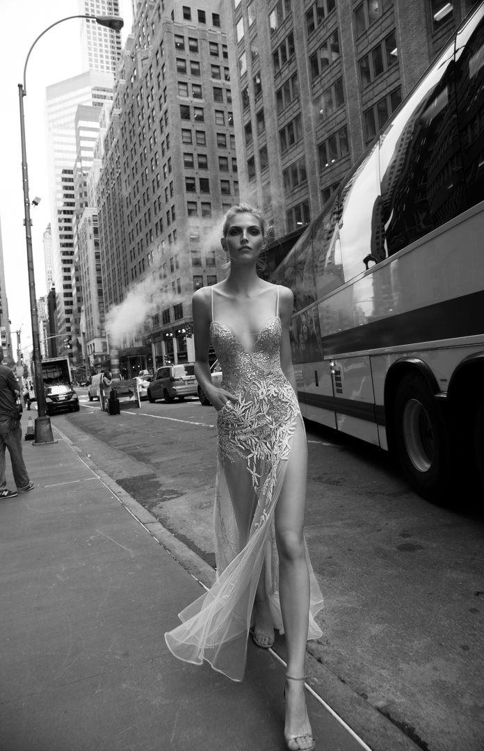 Sheer bridal gown by Inbal Dror