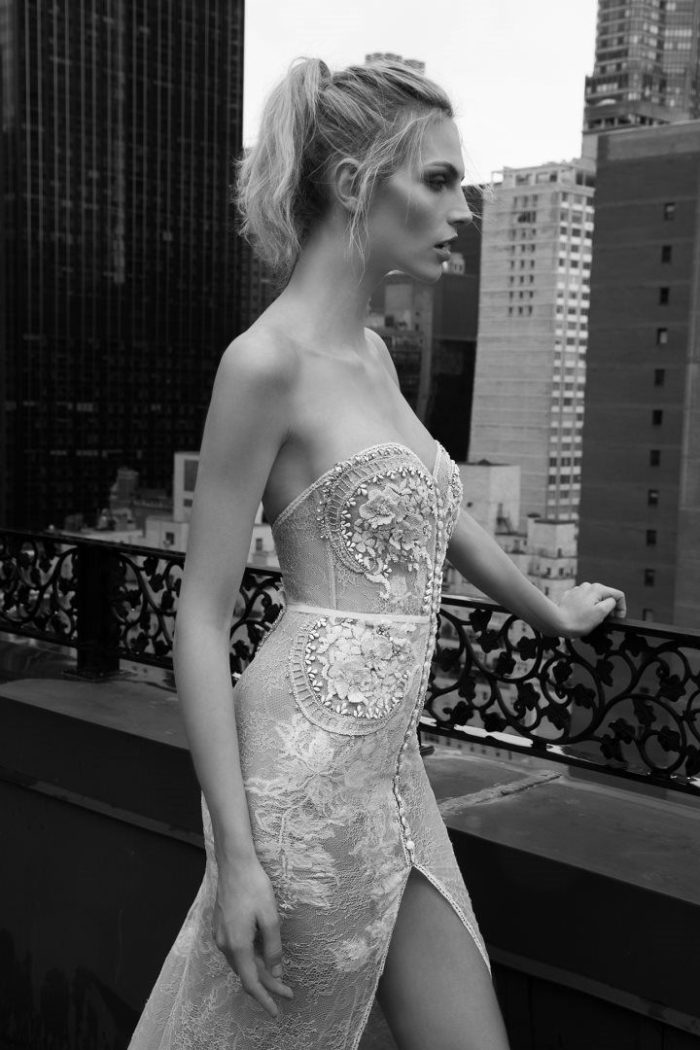 Sheer couture bridal gown | Inbal Dror Bridal 2016