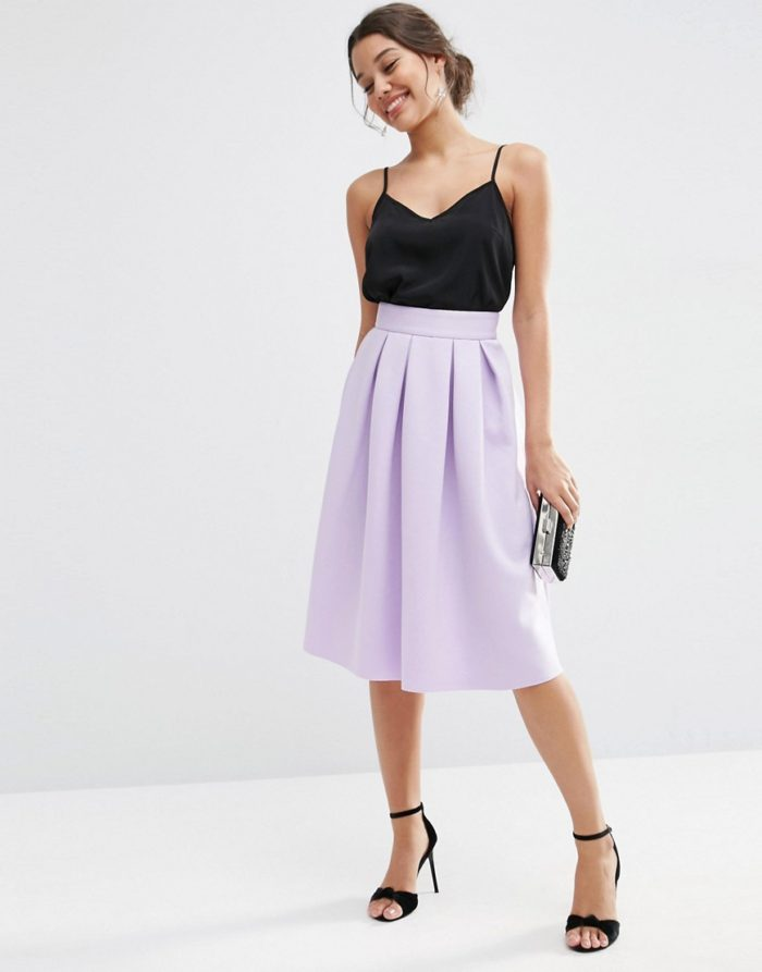 Pastel pleated skirt | Wedding skirts | Skirt from ASOS