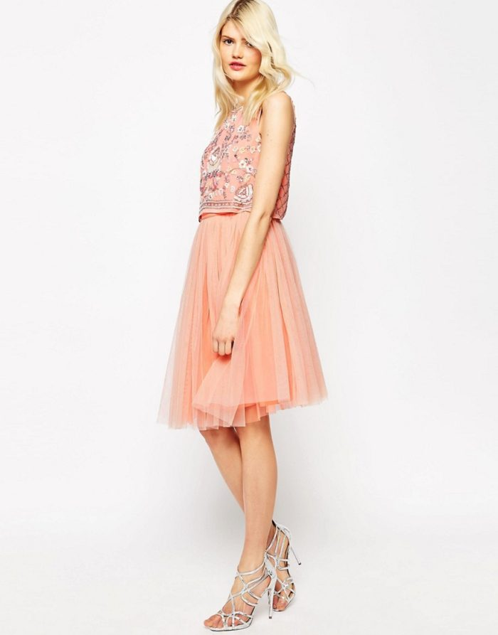 Top and tulle skirt for bridesmaids
