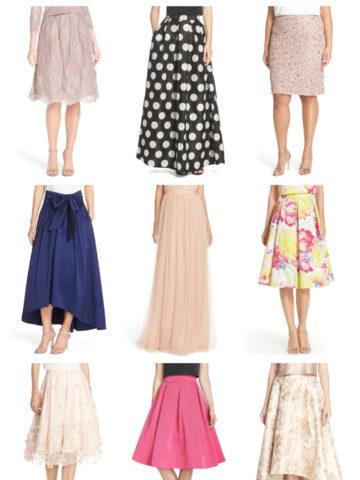Skirts for weddings