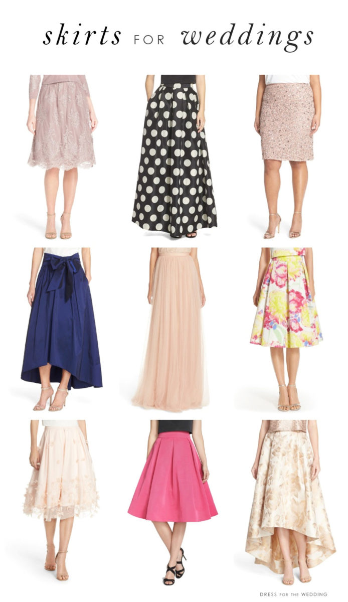 Skirts for weddings