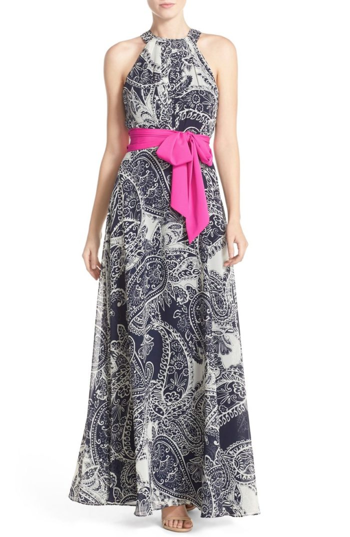 Wedding guest dresses for june and july weddings dress for Navy blue maxi dress for wedding