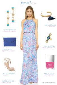 Pastel Printed Maxi Dress