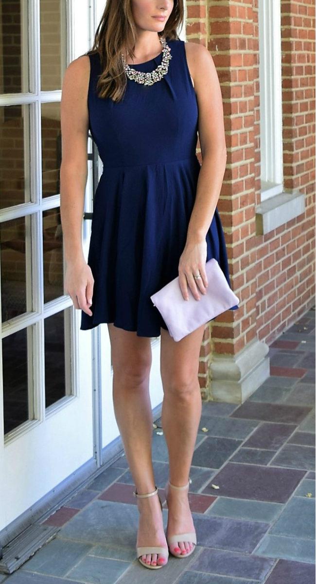 Cute navy blue dress from ModCloth | Summer wedding guest dress ideas