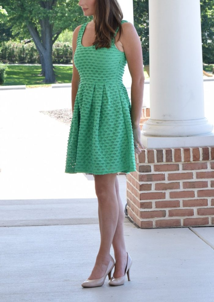 Cute green tank dress with eyelet detail | ModCloth |Great dresses for summer weddings