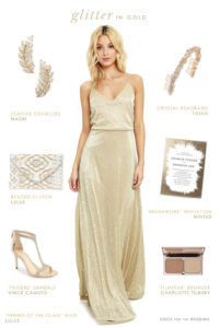 Gold Maxi Dress for a Wedding