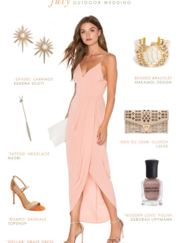 What To Wear to a July Outdoor Wedding