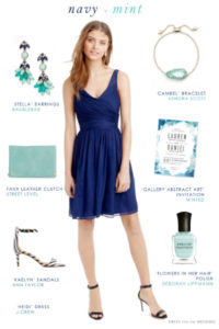 Navy blue and mint green wedding style  Dress for the Wedding