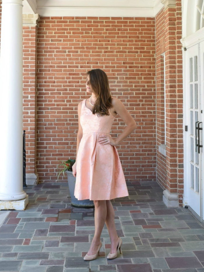 Peach dress for wedding guest | Cocktail dress from ModCloth