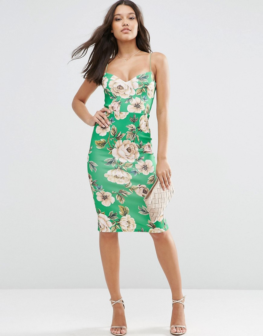 Floral cocktail dress for summer 2016 wedding