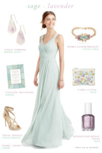 Sage Green and Lavender for Bridesmaids