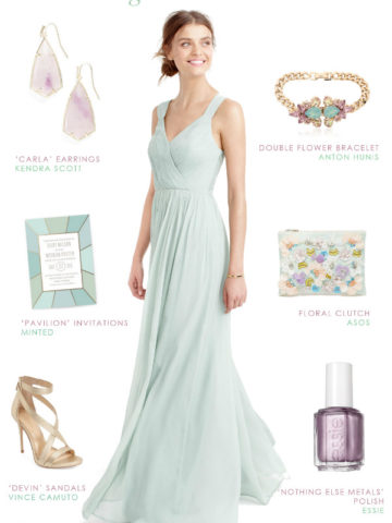Sage green and lavender wedding | Bridesmaid dress idea by Dress for the Wedding