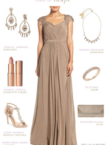 Taupe Evening Gown