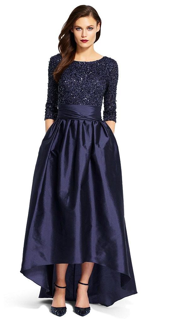 Winter mother of the bride dress idea