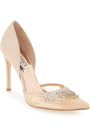 Designer wedding pumps with crystal details