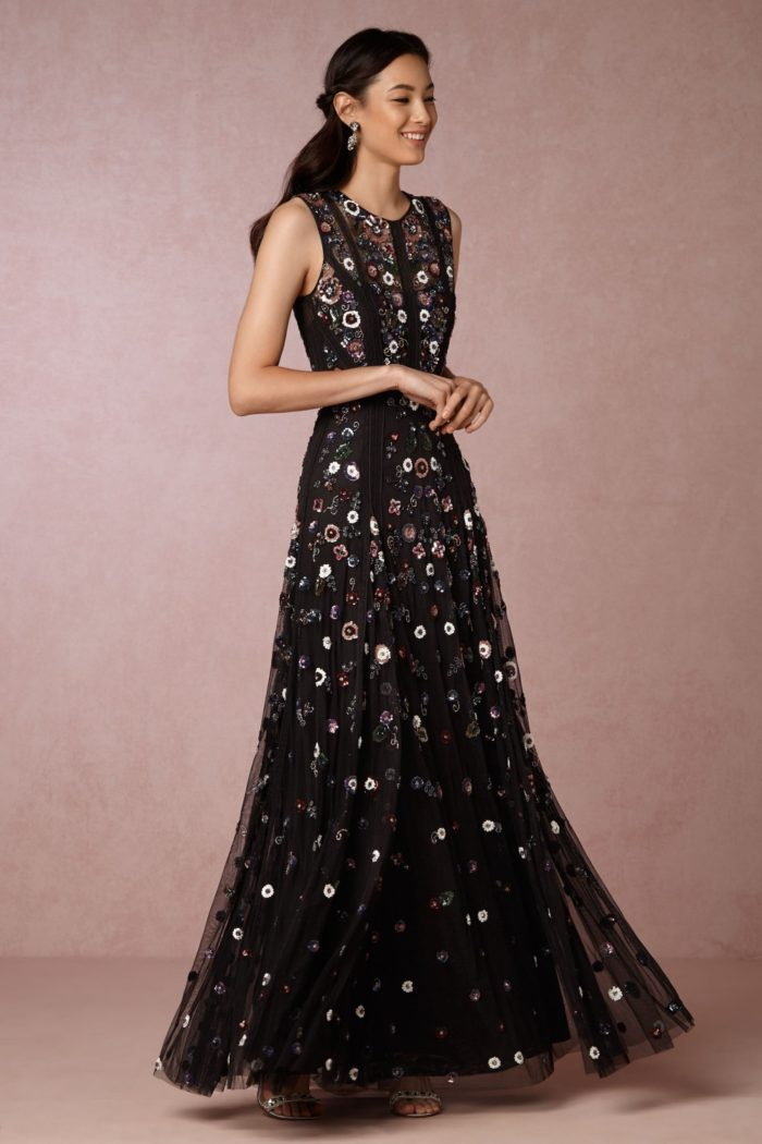 New party dresses for fall and winter 2016 dress for the for Black floral dress to a wedding