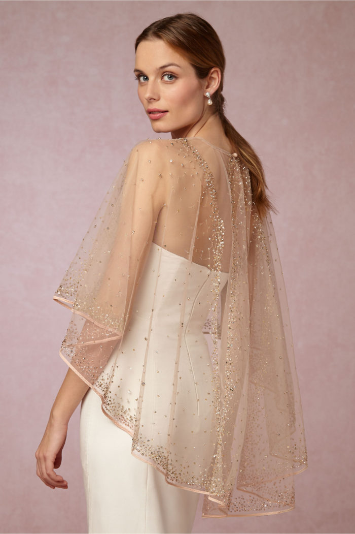 Gold Bridal Cape or Coverup