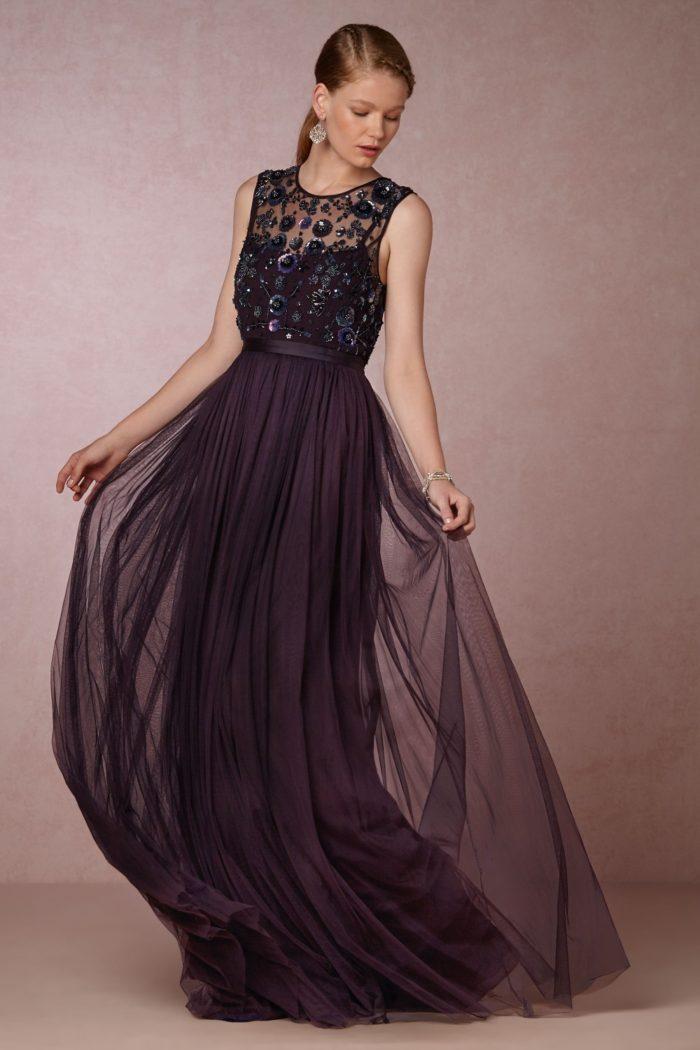 Deep purple formal gown   Winter or Fall Wedding Black Tie Attire