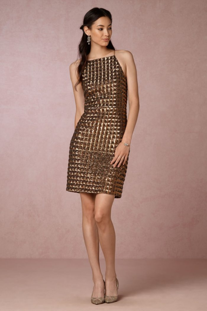 Short gold cocktail dress | New Years Eve Dress