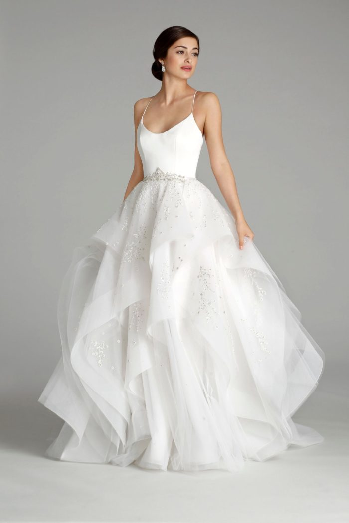 Tulle ballgown wedding dress | Alvina Valenta Wedding Dress Style 9650