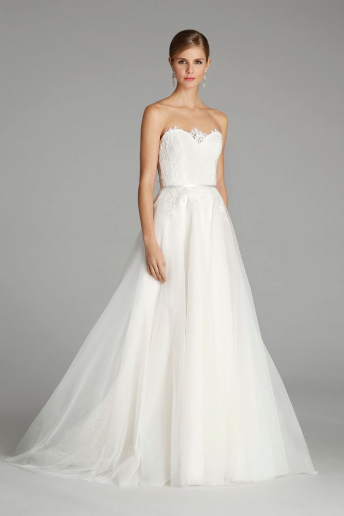 Strapless Lace Wedding Dress from Alvina Valenta 2016