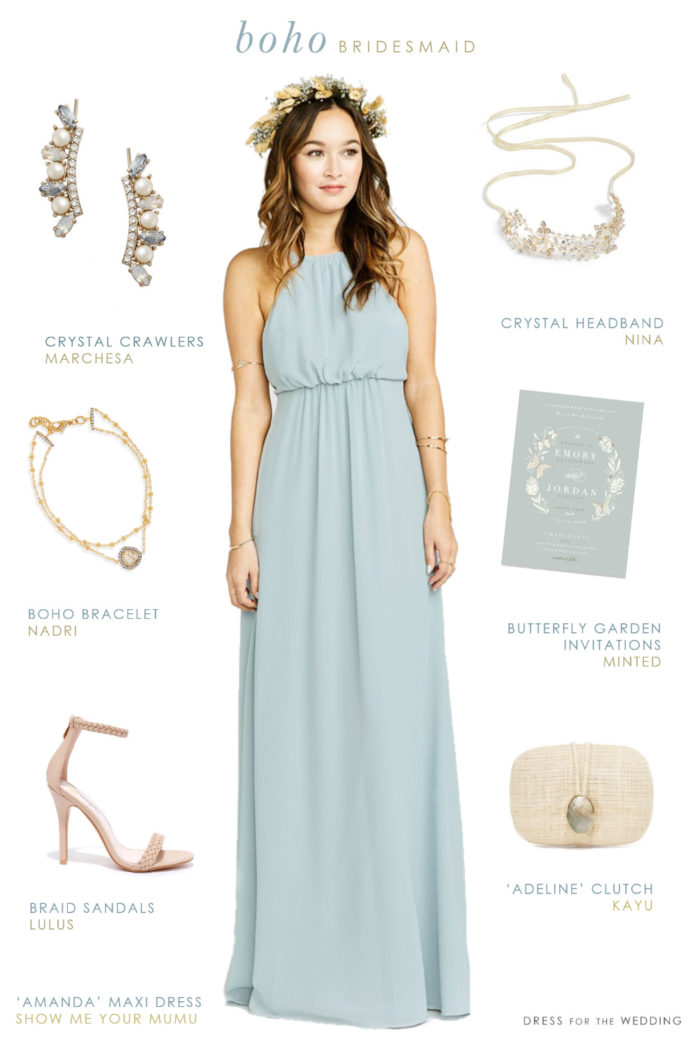 Buy boho bridesmaid dresses