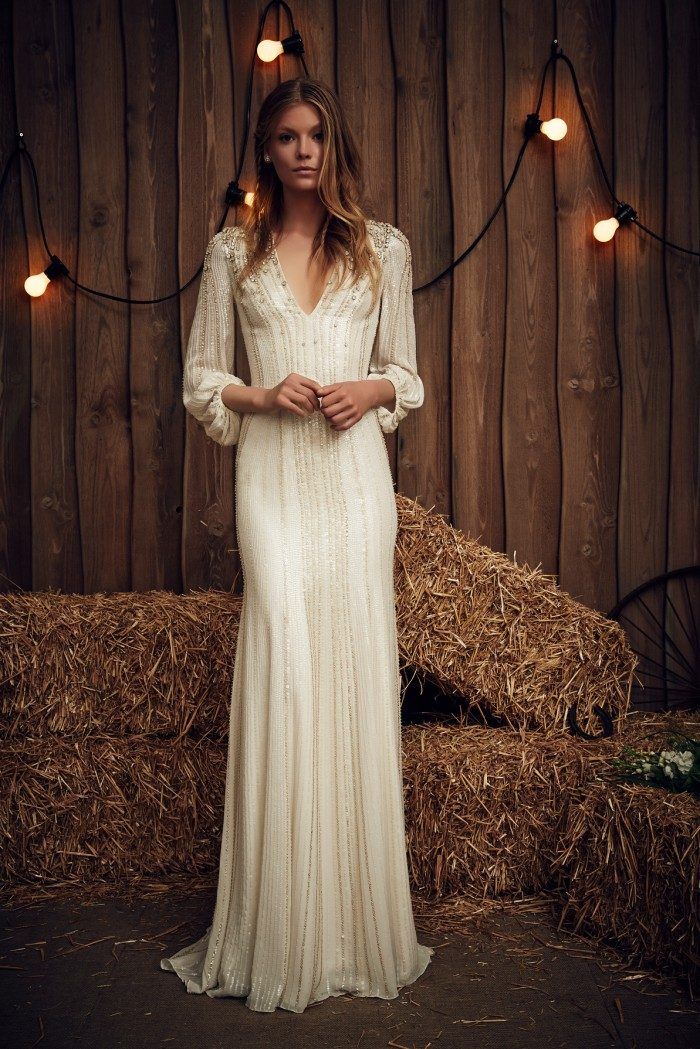 Beaded long sleeve Jenny Packham Wedding Dresses Lara