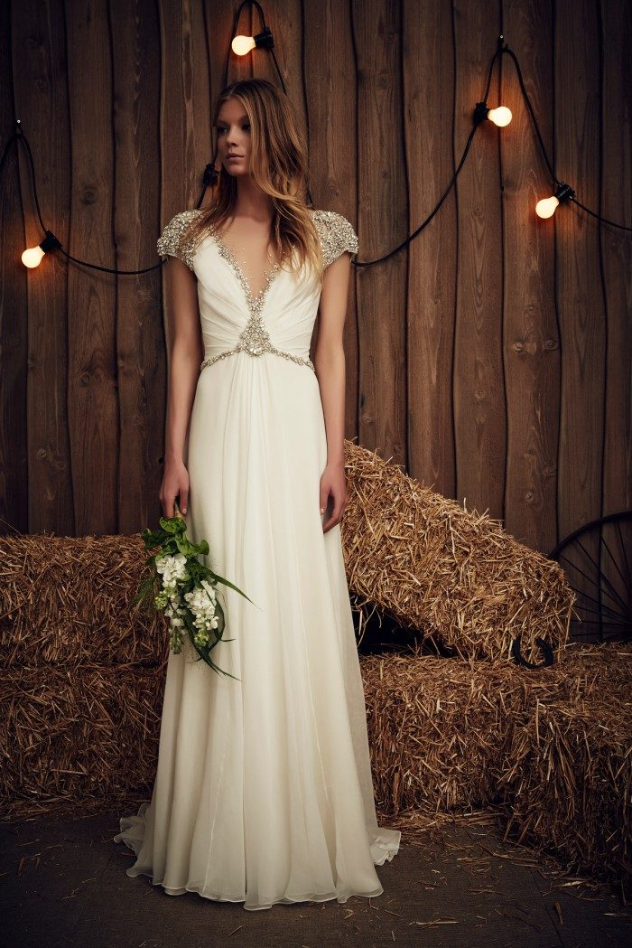 Embellished Jenny Packham Wedding Dress