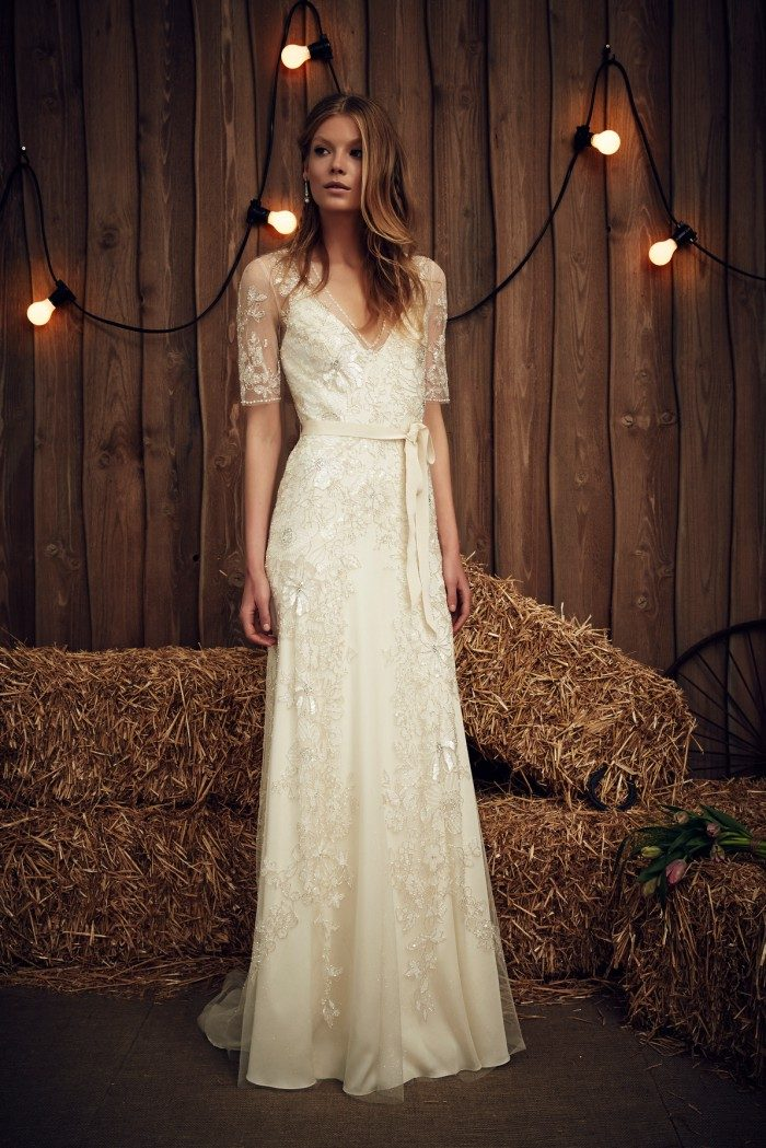 Romantic ivory lace wedding dress by Jenny Packham