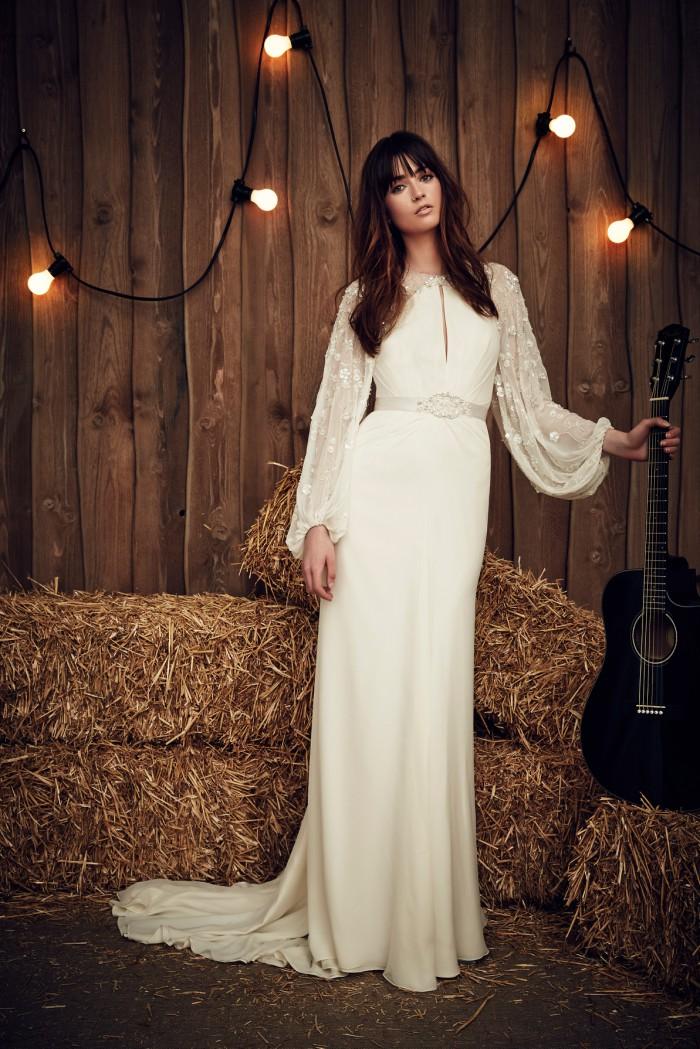 Full sleeve wedding dress Jenny Packham