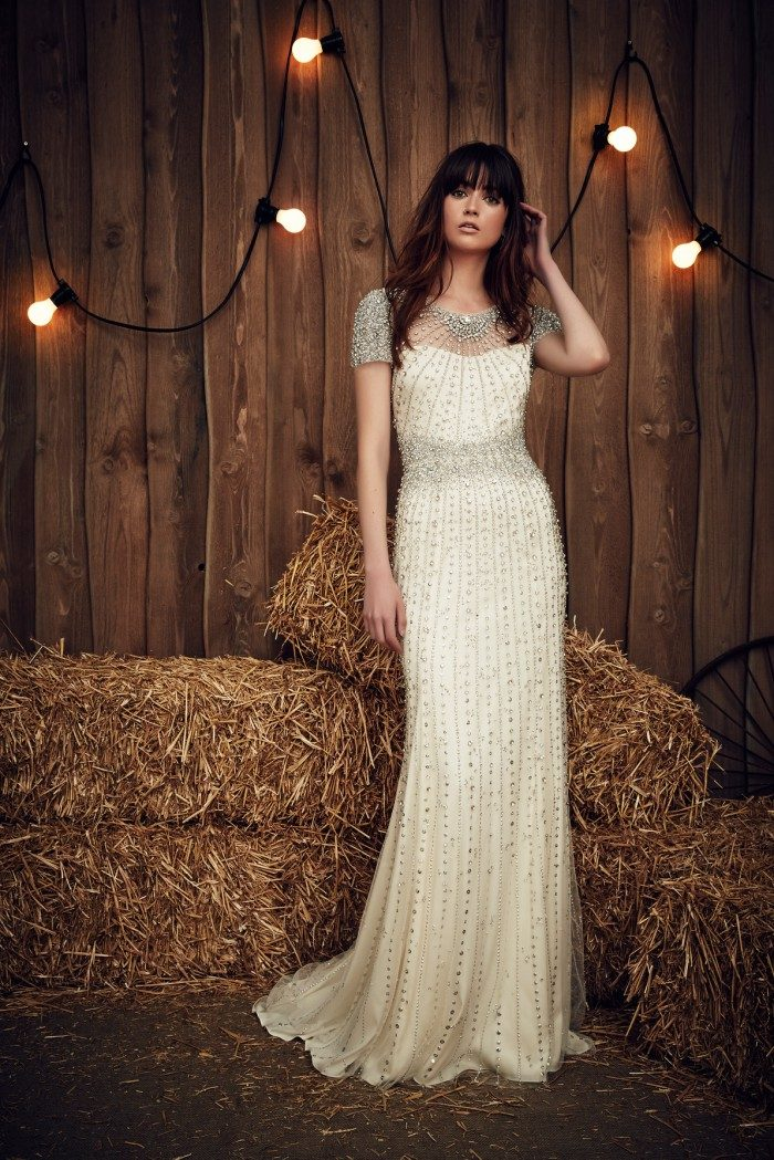 Stunning beaded wedding dress by designer Jenny Packham