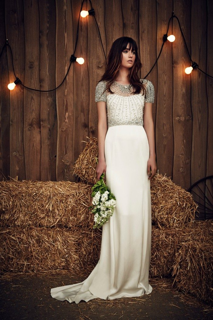 Beaded top wedding dress | Carrie by Jenny Packham