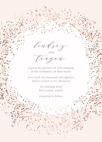 sparkling wedding invitation inspiration | Style is called 'Dreamy' Found at Minted