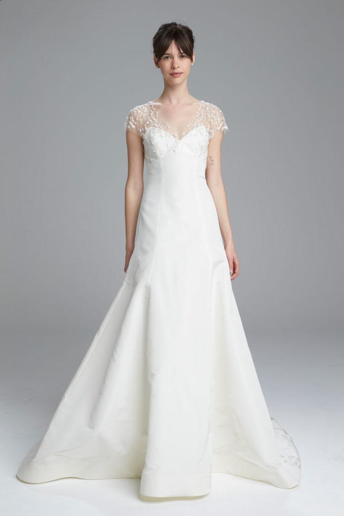 Hand Embriodered Wedding Dress | Marli Amsale Spring 2017 Wedding Dress