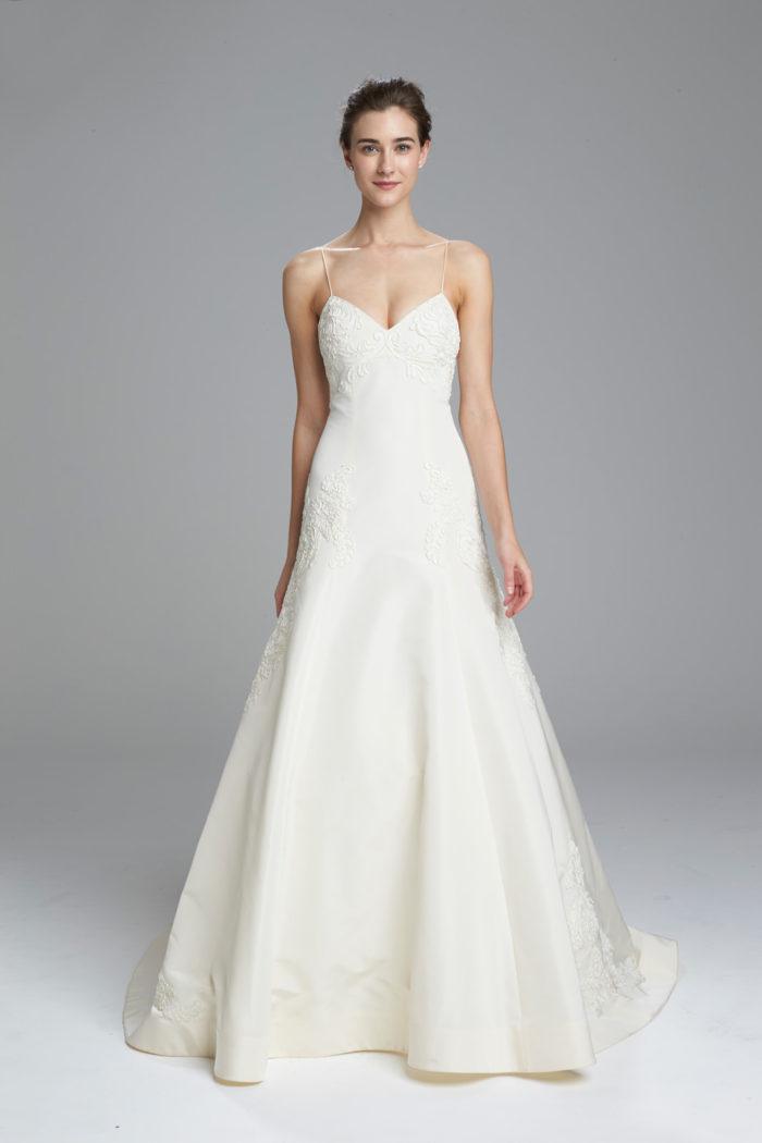 Spaghetti Strap Lace Wedding Dress by Amsale Spring 2017