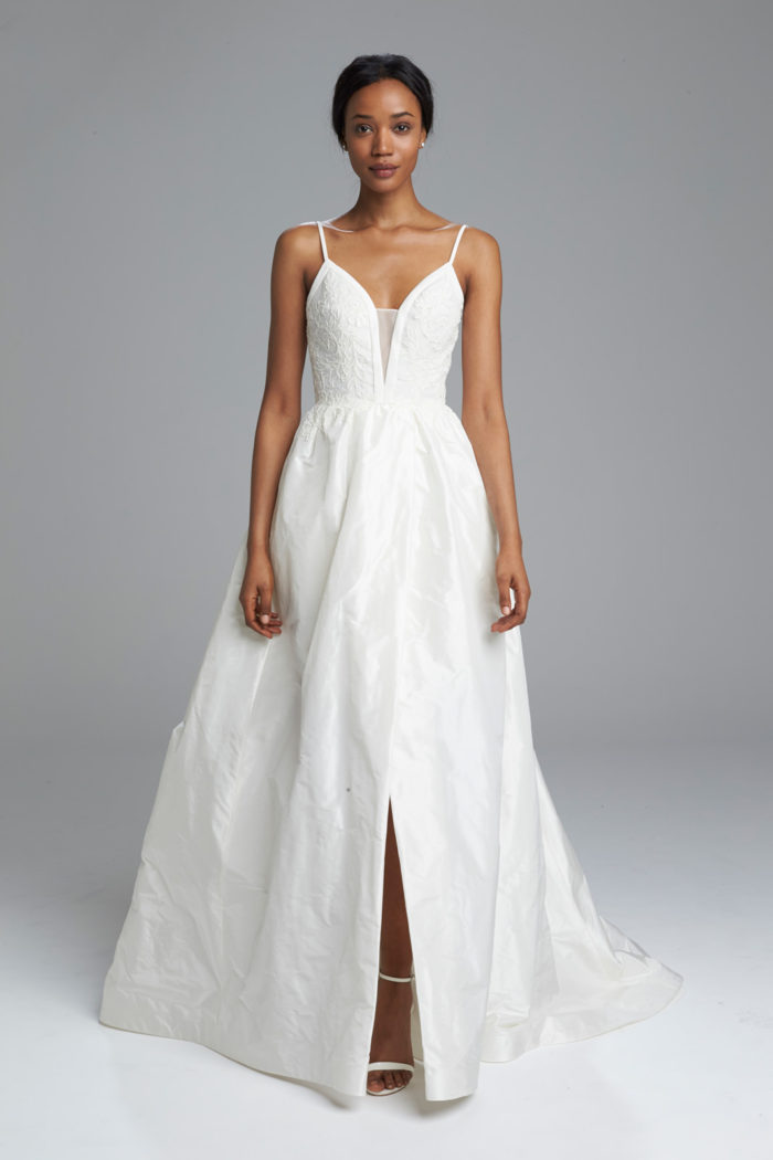 Silk Wedding Dress with Straps