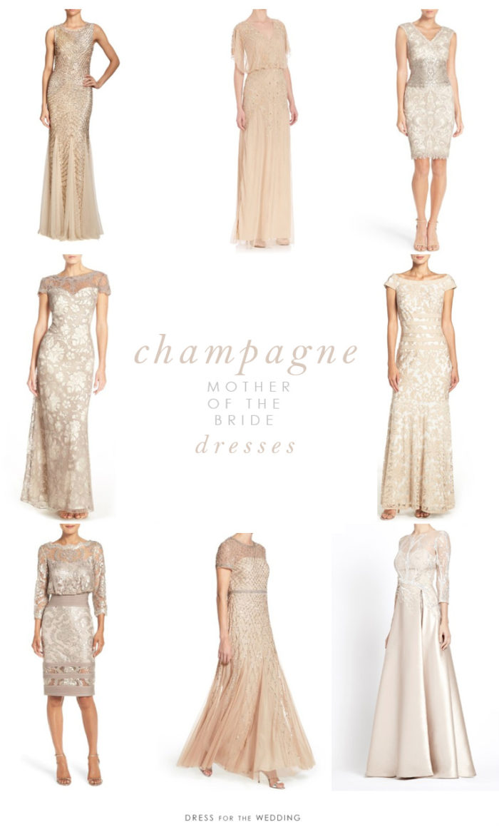 Short Champagne Mother Of The Bride Dresses Flower Girl
