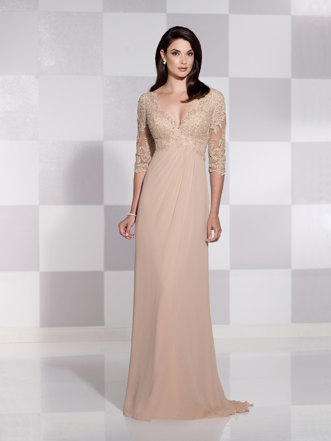 Champagne mother of the bride gown