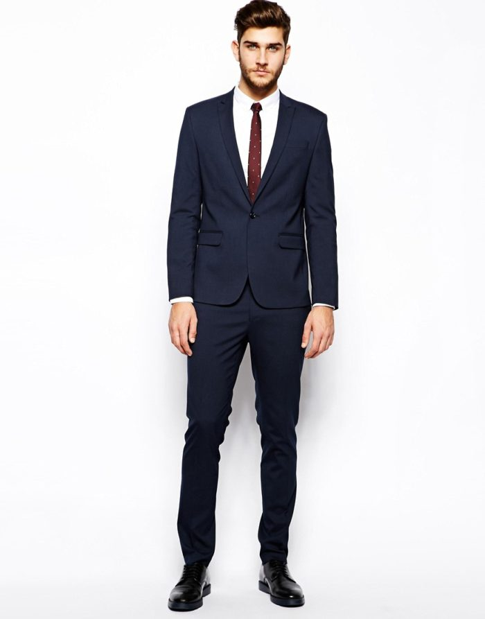 Men's Cocktail Attire for a Wedding | Skinny suit from ASOS