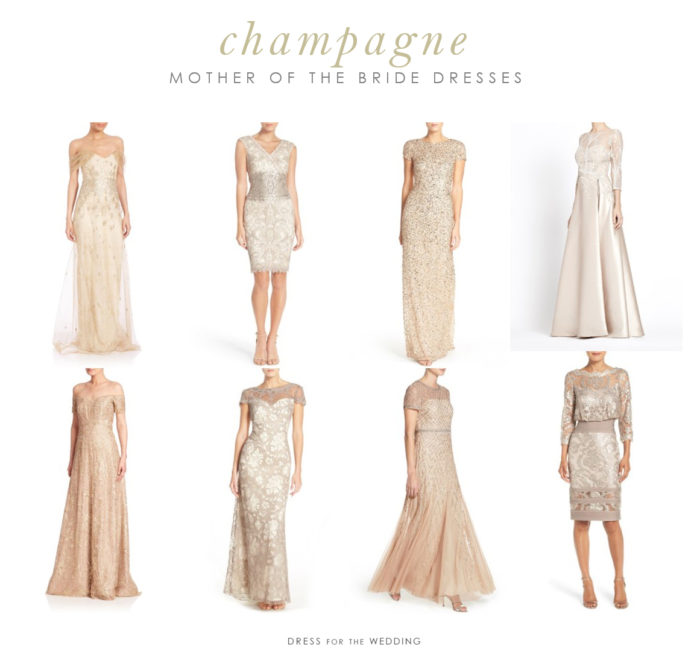 Champagne Mother of the Bride Dresses | Dress for the Wedding