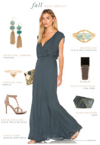 Maxi Dresses for Fall Weddings