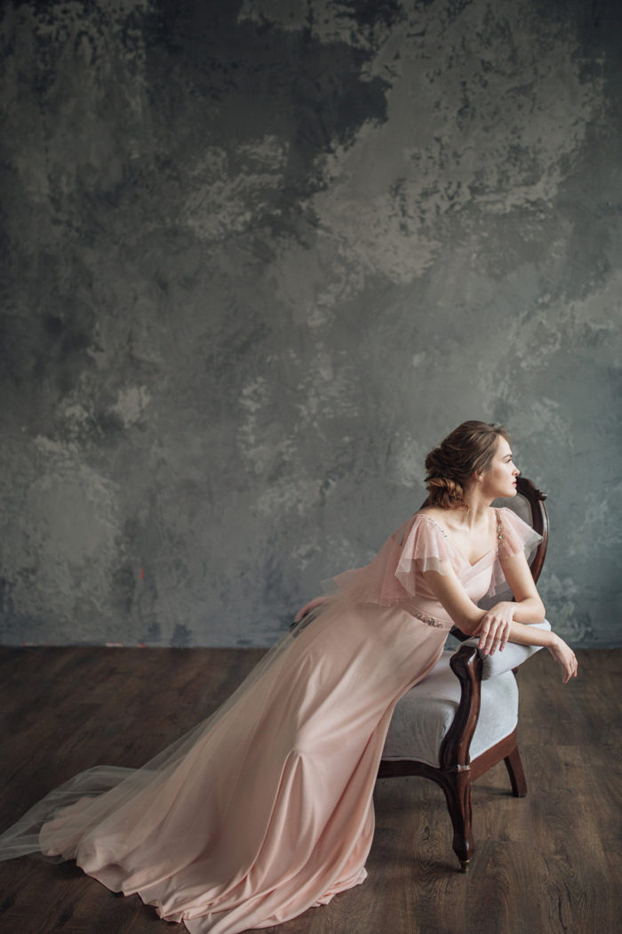 Beautiful pink wedding gown