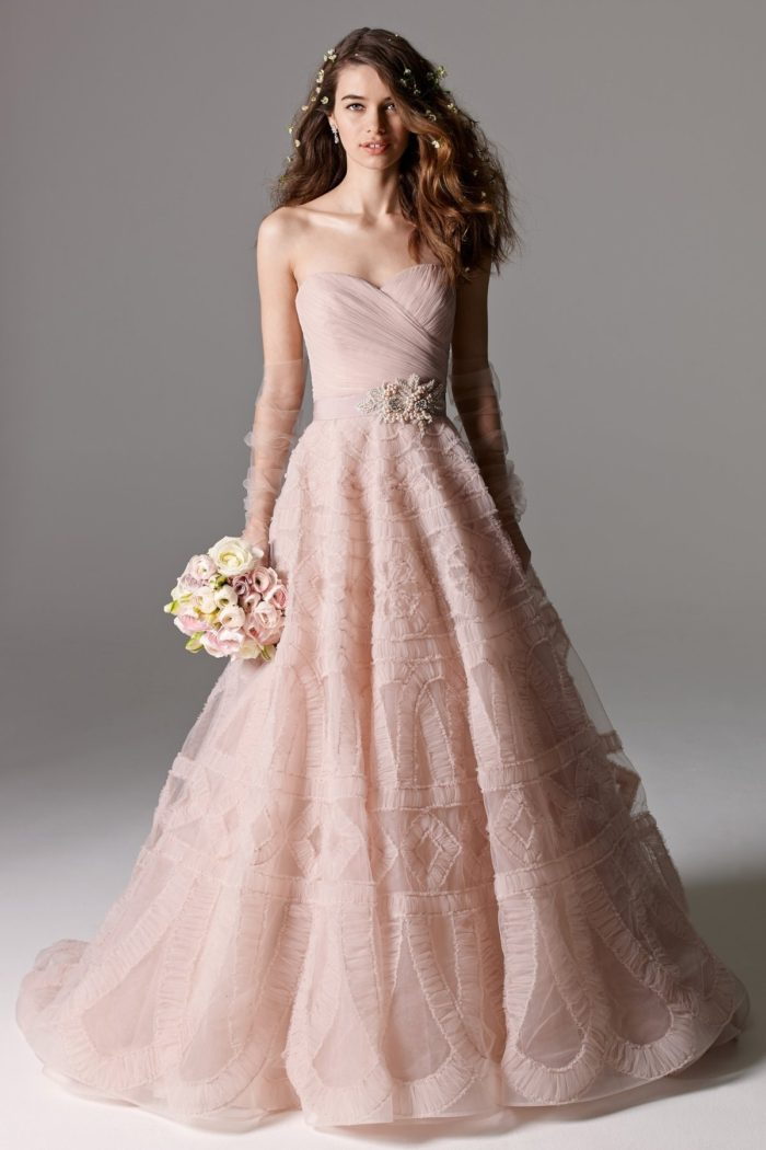 Blush Wedding Dress 1402 : Pink and blush wedding dresses dress for the